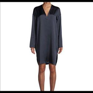 Vince silk long-sleeve tunic dress